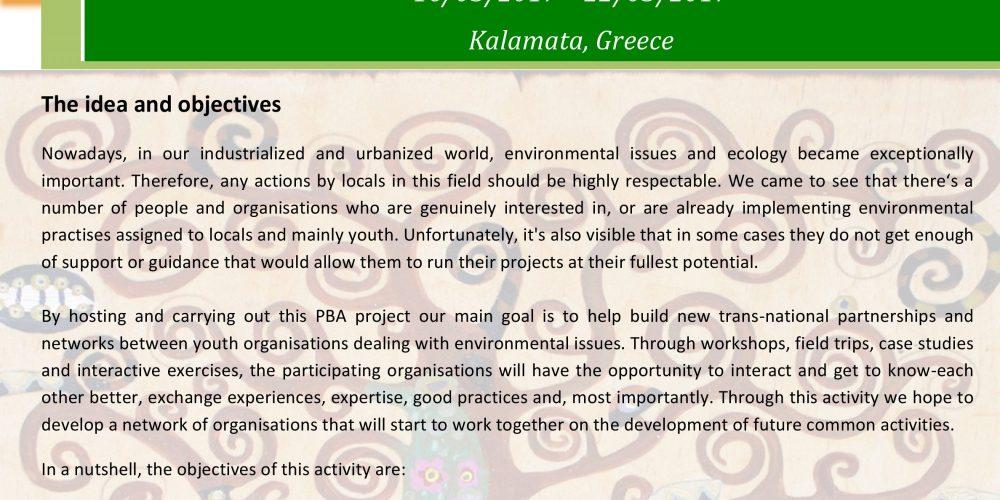 GEM  ERASMUS+ Partnership Building Activity  16/03/2017 – 22/03/2017  Kalamata, Greece